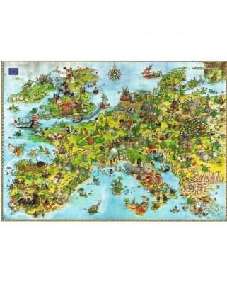 Puzzle Heye - Degano Sophie: Europe, 4.000 piese (221)