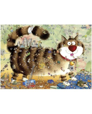 Puzzle Heye - Degano Sophie: The cat life, 1000 piese (40726)