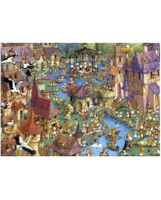 Puzzle Heye - Francois Ruyer: Bunnytown, 1.000 piese (10804)