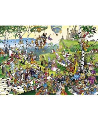 Puzzle Heye - Giuseppe Calligaro: Picnic, 1.000 piese (63220)