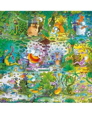 Puzzle Heye - Guillermo Mordillo: Wildlife, 1.000 piese (57755)