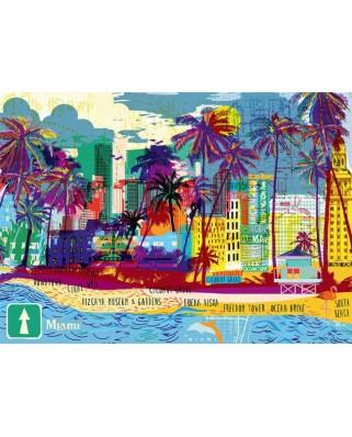 Puzzle Heye - I love Miami!, 1.000 piese (61424)