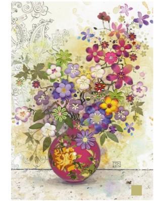 Puzzle Heye - Jane Crowther: Pink Vase, 1.000 piese (49466)