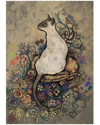Puzzle Heye - Jane Crowther: Siamese, 1.000 piese (43642)