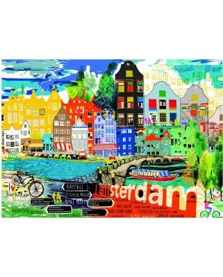 Puzzle Heye - Kitty McCall: I Love Amsterdam!, 1.000 piese (49479)