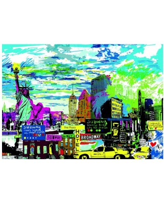 Puzzle Heye - Kitty McCall: I Love New York!, 1.000 piese (49477)