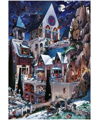 Puzzle Heye - Loup Jean-Jacques: Wolf : Castle of Horror, 2000 piese (230)