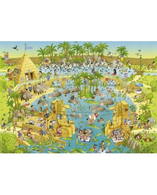 Puzzle Heye - Marino Degano: Nile Habitat, 1000 piese (51785)