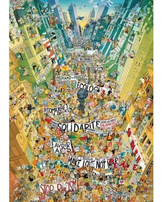 Puzzle Heye - Marino Degano: Protest, 2.000 piese (61433)