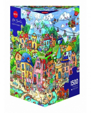 Puzzle Heye - Rita Berman: Happytown, 1500 piese (51817)
