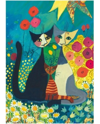 Puzzle Heye - Rosina Wachtmeister: The flowerbed, 1.000 piese (43645)