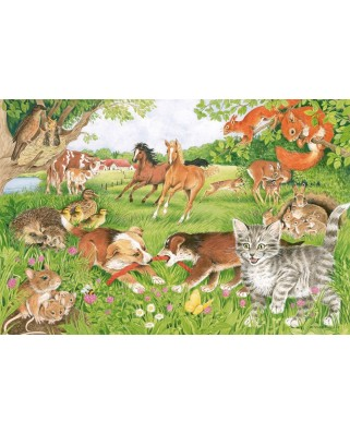 Puzzle Schmidt - The Lives Of Animal Babies, 150 piese, include 1 poster (56290)