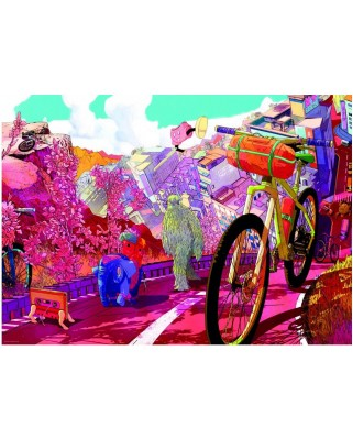 Puzzle Heye - The Ride Journal : Tour in Pink, 1.000 piese (49475)