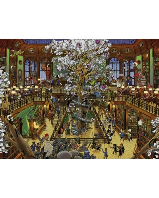 Puzzle Heye - Uli Oesterle - Library, 1.500 piese (63224)