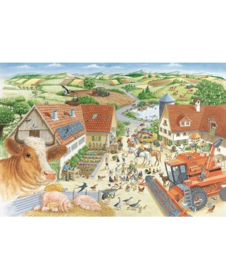 Puzzle Schmidt - Adventures On The Farm, 150 piese, include 1 poster (56291)