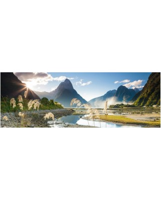 Puzzle panoramic Heye - Sarah Sisson: Milford Sound, 1000 piese (43631)