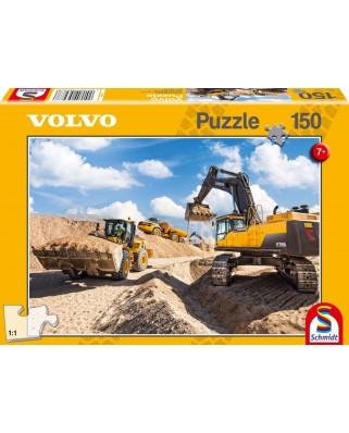 Puzzle Schmidt - Volvo L120GZ, A40F, EC750D, 150 piese (56287)