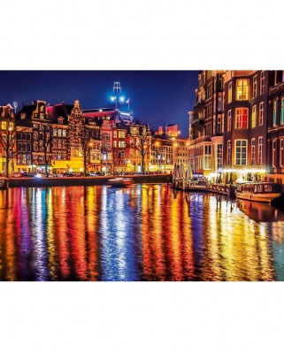 Puzzle Clementoni - Amsterdam by Night, 500 piese (60884)