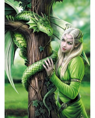 Puzzle Clementoni - Anne Stokes: Connected Spirits, 1.000 piese (62328)