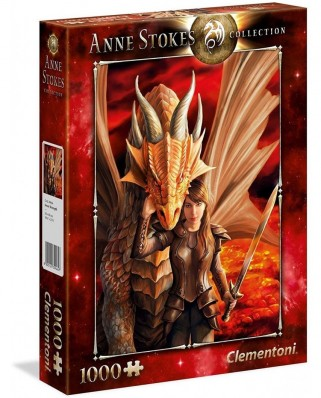 Puzzle Clementoni - Anne Stokes: Inner Strength, 1.000 piese (65264)