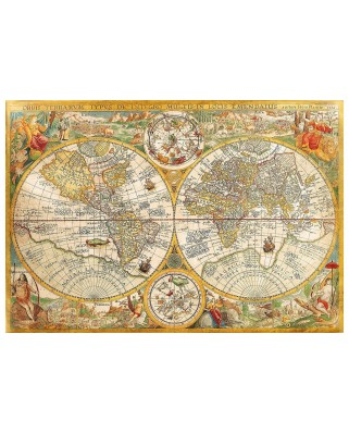 Puzzle Clementoni - Antique World Map, 2000 piese (60875)