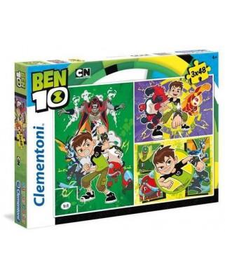 Puzzle Clementoni - Ben 10, 3x48 piese (62375)