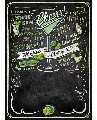 Puzzle Clementoni - Black Board Puzzle - Cheers, 1.000 piese (62434)