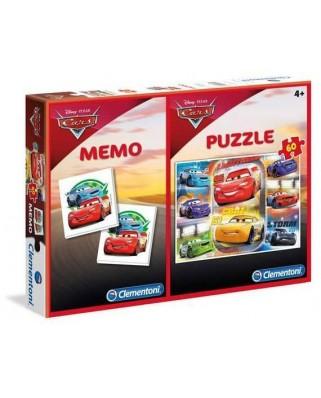 Puzzle Clementoni - Cars + Memo, 60 piese (62349)