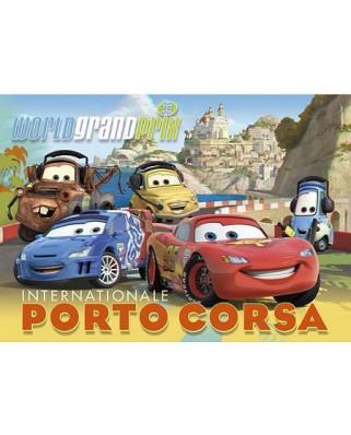 Puzzle Clementoni - Cars 2 : Internationale Porto Corsa, 104 piese cu efect 3D (10517)