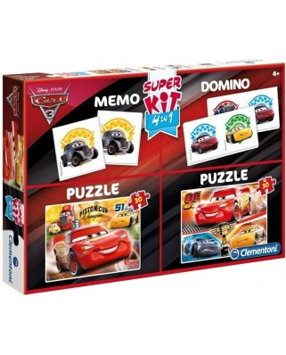 Puzzle Clementoni - Cars 3 - 2 Puzzles + Memo + Domino, 2x30 piese (62351)