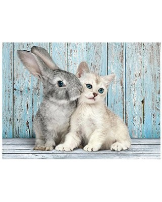 Puzzle Clementoni - Cat and Rabbit, 500 piese (52331)