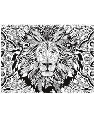Puzzle Clementoni - Colour Therapy - Lion, 500 piese cu efect 3D (62315)