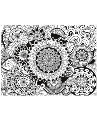 Puzzle Clementoni - Colour Therapy - Mandala, 500 piese cu efect 3D (62317)