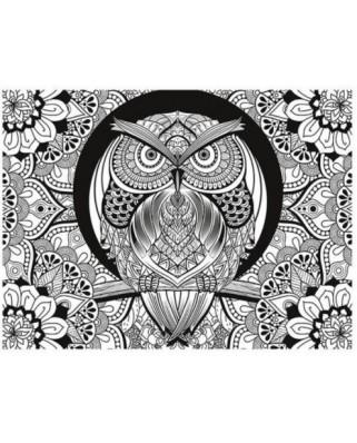 Puzzle Clementoni - Colour Therapy - Owl, 500 piese cu efect 3D (62314)