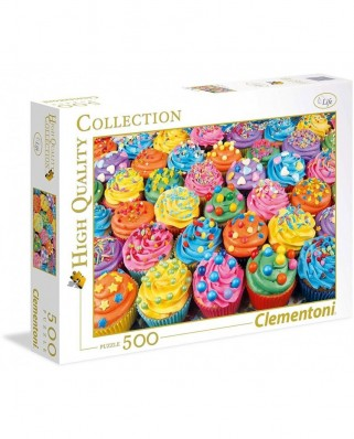 Puzzle Clementoni - Cupcakes, 500 piese (65262)