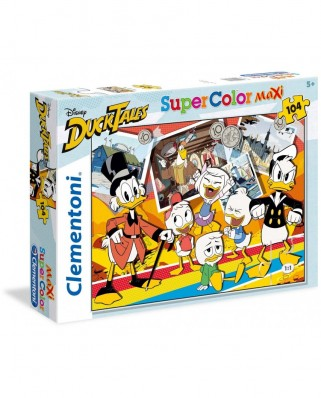 Puzzle Clementoni - Disney Duck Tales, 104 piese XXL (62368)
