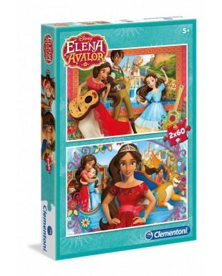 Puzzle Clementoni - Elena Avalor, 2x60 piese (60733)