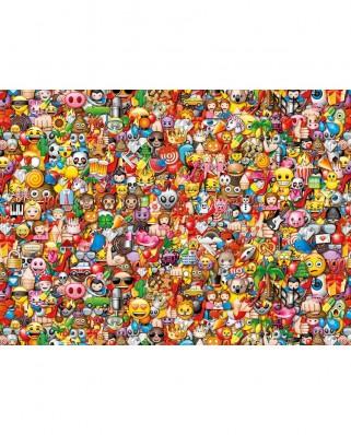 Puzzle Clementoni - Emoji - Impossible Puzzle!, 1.000 piese dificile (60910)