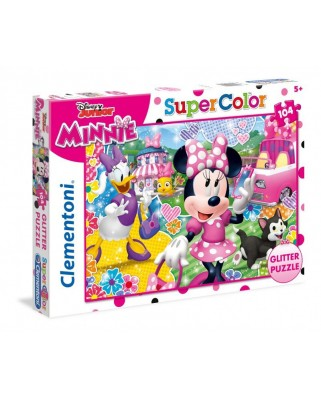 Puzzle Clementoni - Glitter - Minnie, 104 piese (62358)