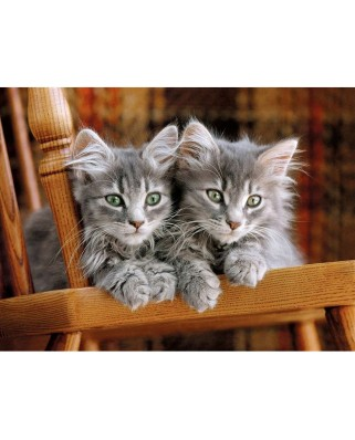 Puzzle Clementoni - Gray Kittens on the chair, 500 piese (44107)