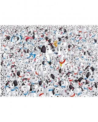 Puzzle Clementoni - Impossible - 101 Dalmatians, 1.000 piese dificile (54170)