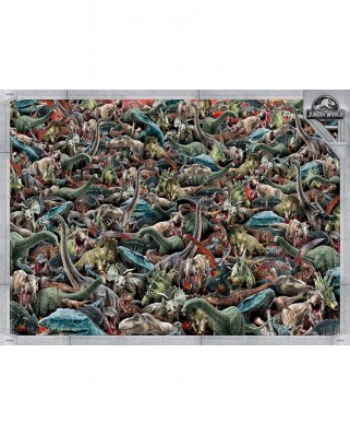 Puzzle Clementoni - Impossible - Jurassic World, 1.000 piese dificile (65265)