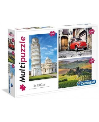 Puzzle Clementoni - Italy, 3x1.000 piese (62298)