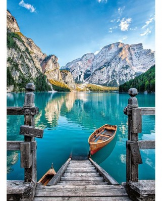 Puzzle Clementoni - Lake Braies, 500 piese (60886)