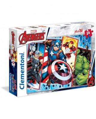 Puzzle Clementoni - Marvel Avengers, 24 piese XXL (62371)