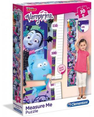 Puzzle Clementoni - Measure Me - Disney Junior - Vampirina, 30 piese, pentru masurat (65224)