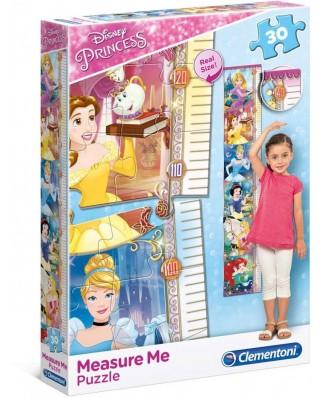 Puzzle Clementoni - Measure Me - Disney Princess, 30 piese, pentru masurat (62359)