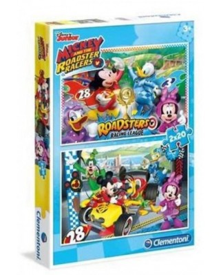Puzzle Clementoni - Mickey, 2x20 piese (65212)