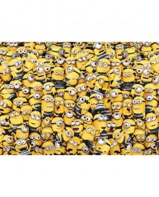 Puzzle Clementoni - Minions - Impossible Puzzle!, 1.000 piese dificile (60922)