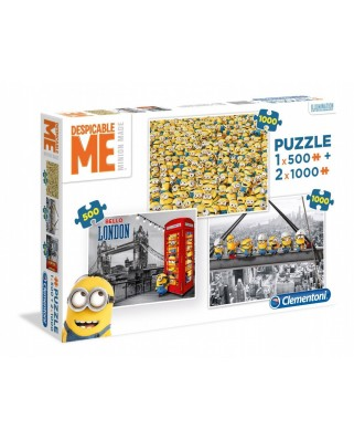Puzzle Clementoni - Minions, 500/1.000/1.000 piese (62350)